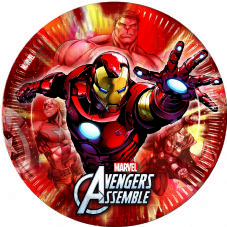 8 Avengers Assemble Theme Paper Party Plates